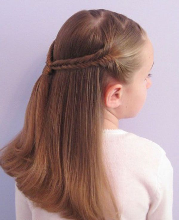 Simple Cute Braided Hairstyles For Kids Hair