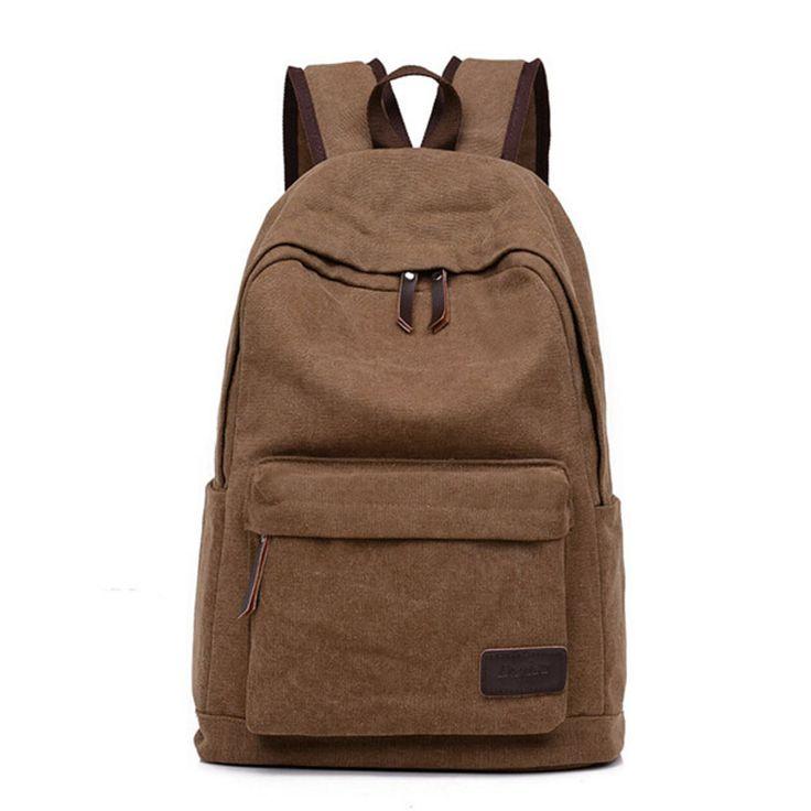 2016 Hombres de La Vendimia Mochila de Lona School Satchel Bolsos de Moda Mochila de Viaje Ocasional Hombro bolsas mochila XJ406
