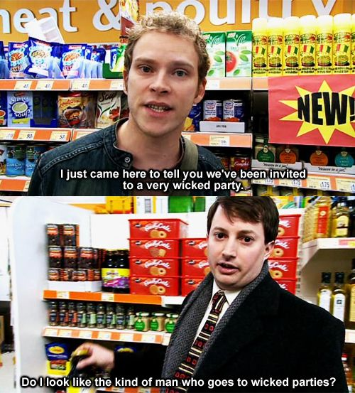 "I feel like I really am Mark from Peep Show... ""I am doing excellent shopping."""
