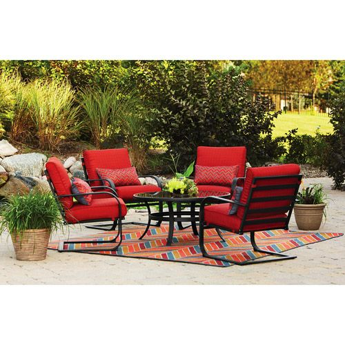 #red Patio Furniture Set