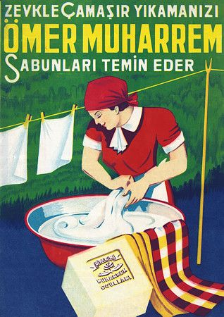 Vintage Laundry Soap Turkish Advertising Posters and Prints