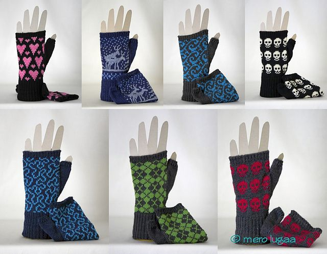 I love every single one of these! Ravelry: Ineedyarn's Machine knit: More wristwarmers