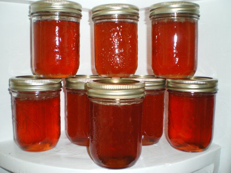 Apple Jelly - Golden Happiness!  Isn't it wonderful when there's that one jar of jelly that doesn't seal?