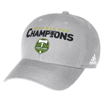 adidas Portland Timbers Gray 2015 MLS Cup Champions Structured Adjustable Hat