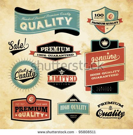 stock vector : Premium and High Quality Label / Icon