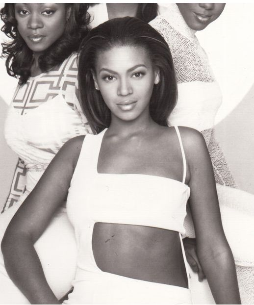Young Beyonce Destiny's Child Debut Fashion Style Hair Inspiration Beautiful Famous Celebrity Black Women