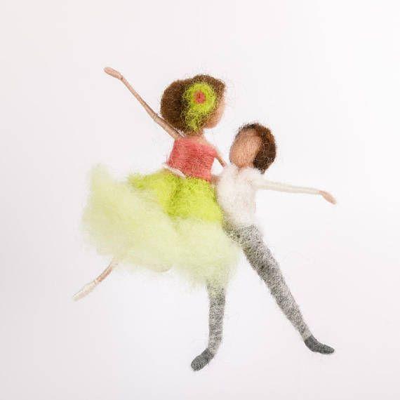 Ballett Tänzer Tanzpaar nadelgefilzt Tanz Waldorf