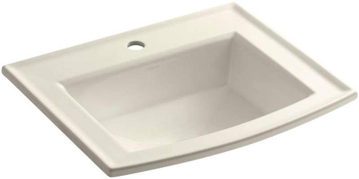 "View the Kohler K-2356-1 Archer 16-7/8"" Drop In Bathroom Sink with 1 Hole Drilled and Overflow at FaucetDirect.com."