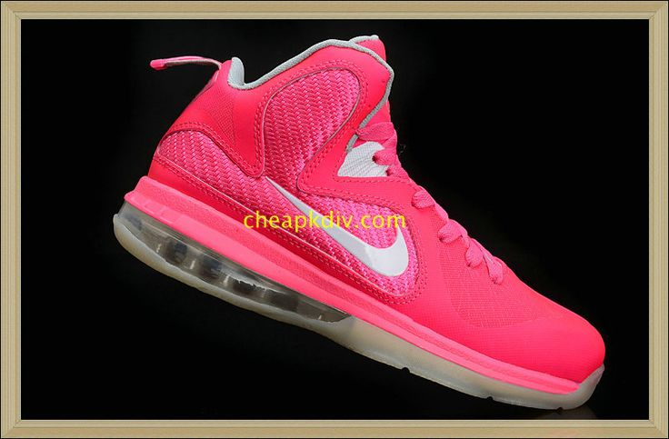 Think Pink Lebron 9 Womens Kay Yow White  #Pink #Womens #Sneakers