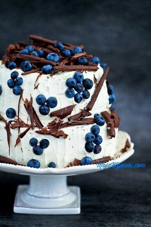 Gâteau au chocolat et aux myrtilles / Chocolate and blueberries cake