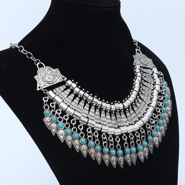 2015 мода питания колье себе чешские ожерелье подвески старинные монеты цыганская этническая макси ожерелье женщины ювелирных украшений купить на AliExpress
