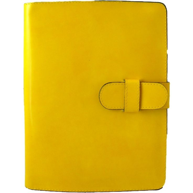 Yellow #iPad leather cover by Pratesi Made in Italy