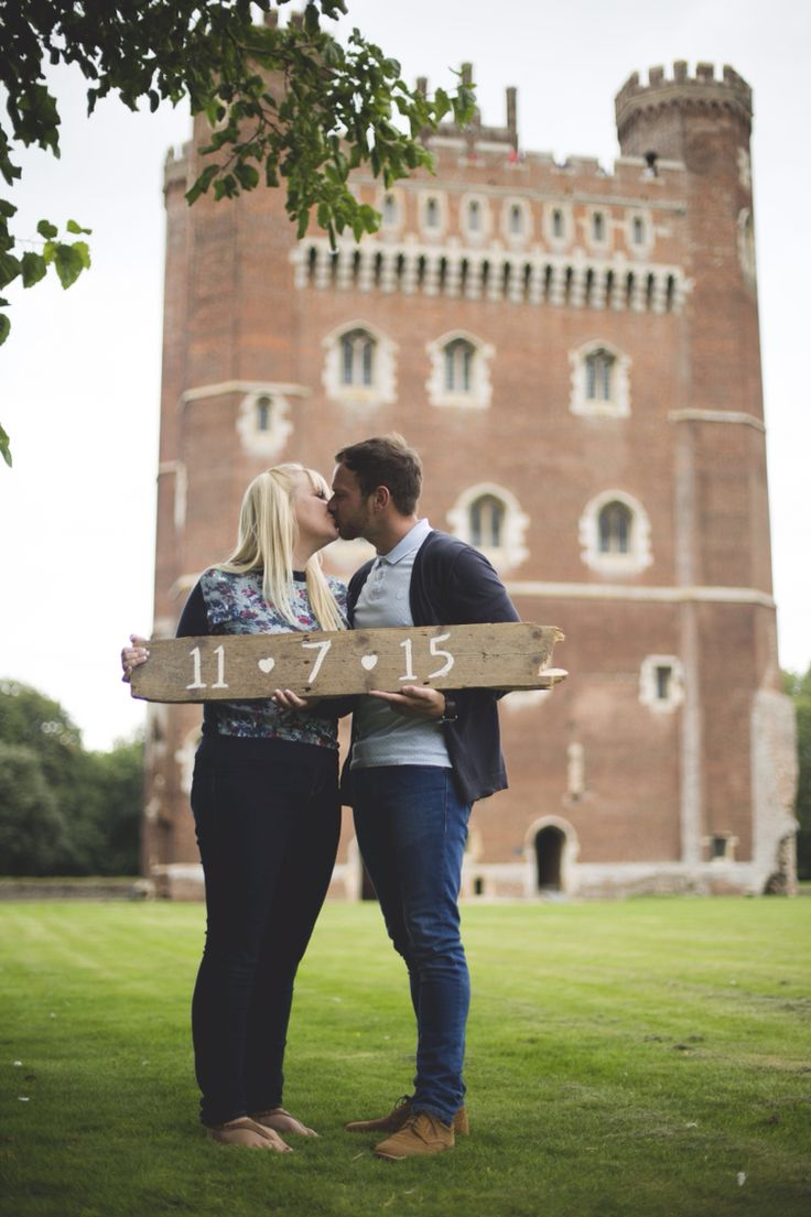 Save the date rustic wedding Tattershall castle