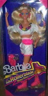 Tutti a pattinare, l'allegra comitiva con abiti fluorescenti e pattini che facevano le scintille davvero!  1991 - Barbie Rollerblade