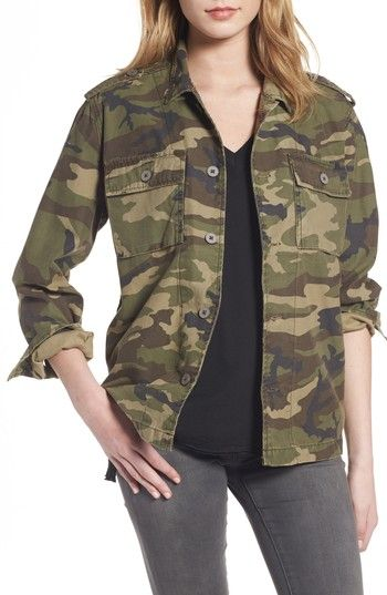 Free shipping and returns on Thread & Supply Barton Camo Print Jacket at Nordstrom.com. You'll look too cool to blend in wearing this camouflage utility jacket that's ruggedly relaxed from the epaulets to the rollable sleeves.