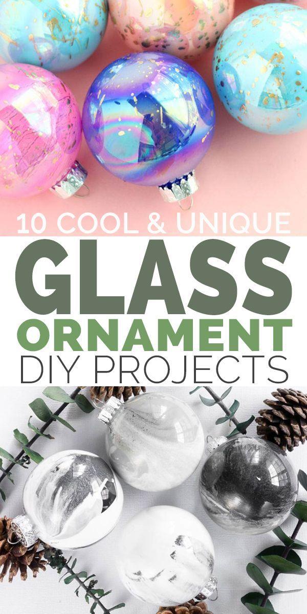 10 Cool Unique Diy Glass Ornament Projects Glass Ornaments