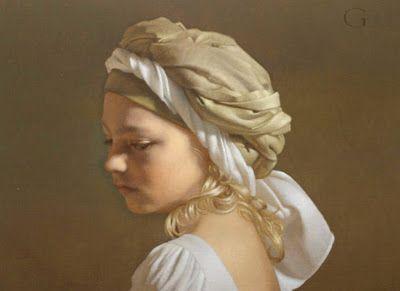 Pintura Moderna y Fotografía Artística : Retratos de Niños al Óleo