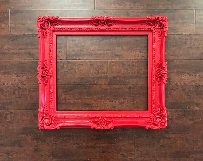 12x16 Black Frame Wall Mirror Frame For Canvas Or Art Paint Etsy Framed Mirror Wall Large Picture Frames Ornate Frame