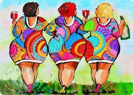 Afbeeldingsresultaat voor dikke dames schilderij fiets
