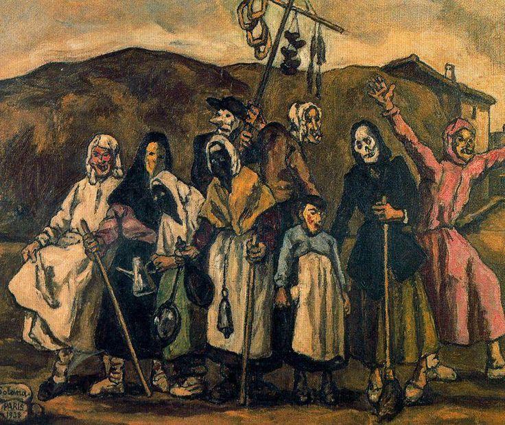 José Gutiérrez Solana -- Máscaras  // Otras obras: http://www.all-art.org/art_20th_century/solana1.html