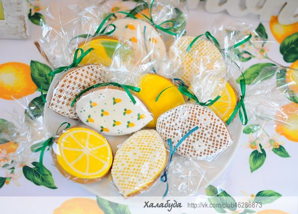 Lace and lemon cookies for candy bar