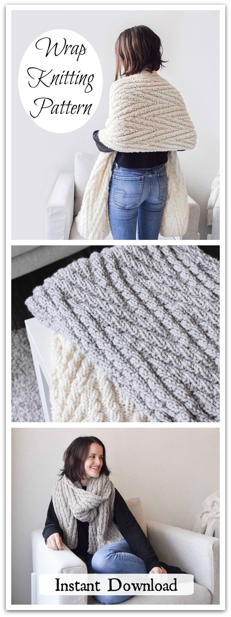 Do you love the original Chevron Scarf but wish you could work it up in twice the speed + twice the warmth? Introducing, the Bulky Chevron! This piece is unbelievably cozy and works up in a fraction of the time that the original does. Instant PDF download #ad #affiliate #knitting #pattern