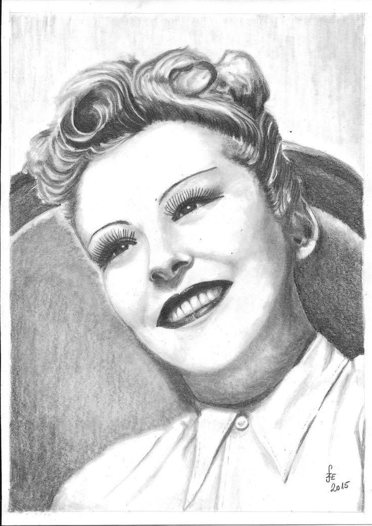 Pencil drawing portrait Perczel Zita by Erika Székesvári  https://www.facebook.com/ercziart/