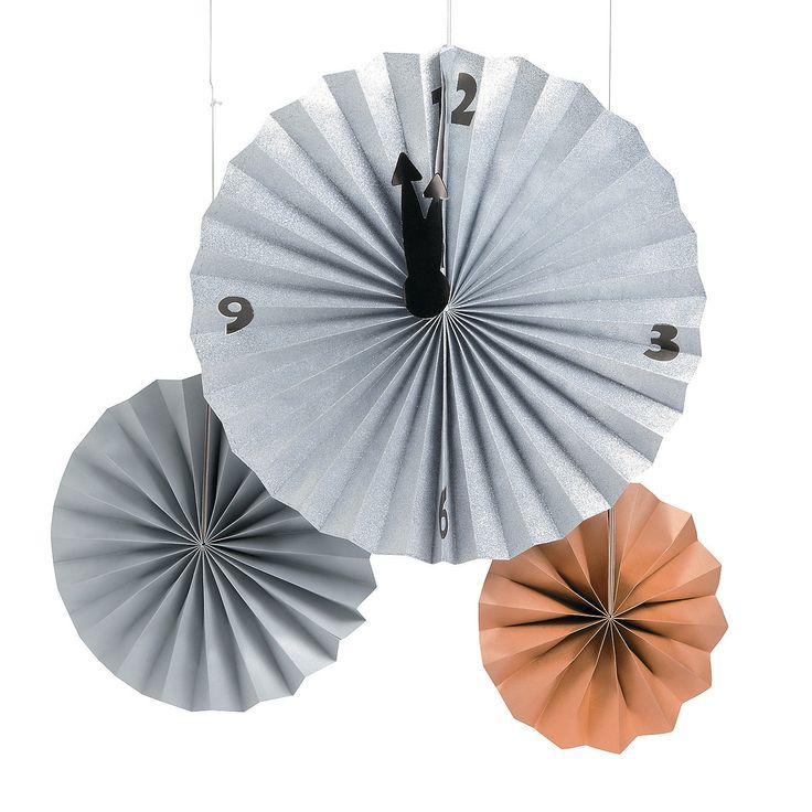 New Year's Clock Fans can be used as decorations. Put every fan on Midnight!
