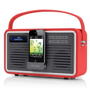 Retro Radio DAB  Red, 99€, now featured on Fab.