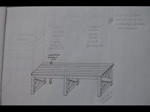 Superbe plan et explications d'un meubles de soutien pour machines à laver  Artisan du bois ayant fait ma formation avec l'AOCDTF (Association Ouvrière des Compagnons Du Tour de France) en tant que menuisier agenceur, je reviens aux ...