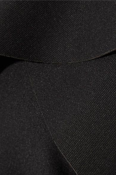 Elizabeth and James - Jerard One-shoulder Ruffled Stretch-ponte Mini Dress - Black - US12