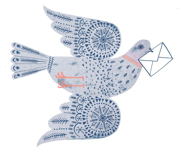 Pigeon Post by Lucy Panes, dove, print, peace, design, greeting card, illustration, pattern