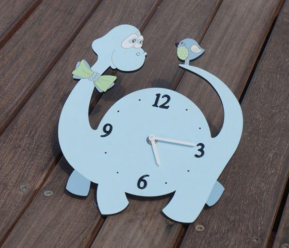 Dinosaur Wall Clock, Kids wall clock, Dinosaur nursery decor https://www.etsy.com/listing/164492051/dinosaur-wall-clock-kids-wall-clock?ref=related-2