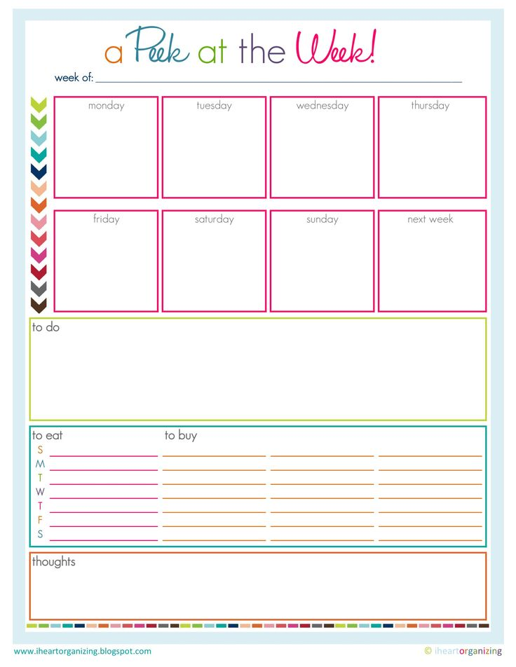 template for planning goals