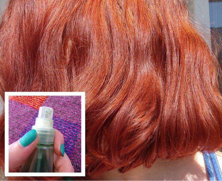 spray capillaire hydratant cheveux boulés reflets dorés