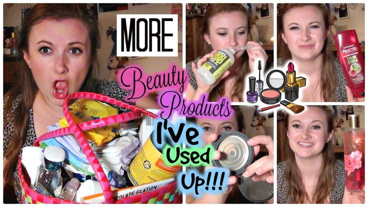 MORE Beauty Products I've Used Up | A Year's Worth of Empties Pt. 4 #missglambam #youtuber #Beauty #beautyproducts #beautyblogger #beautyvlogger #empties #productsiveusedup #tag #conditioner #haircare #skincare #drugstore #review #wouldirepurchase #garnierfructis #wholefoods #everyone #pressedpowder #makeup #cosmetics #tarte #primer #vitaminc #eos #lipbalm #diy #beautyproductsiveusedup #victoriassecret #shower #bathoil #opticwhite #teethwhitener #burtsbees