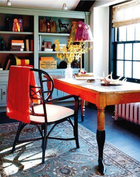 Оранжевый стол