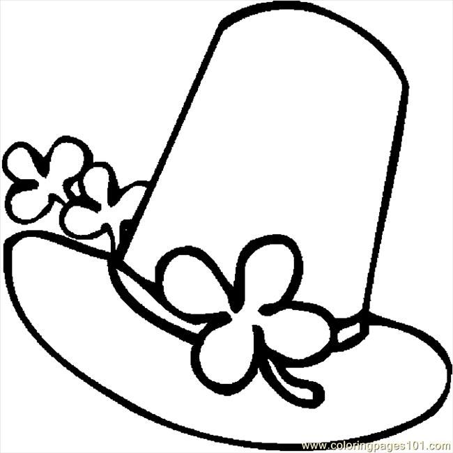 St patricks day hats coloring pages free printable for Leprechaun hat coloring page