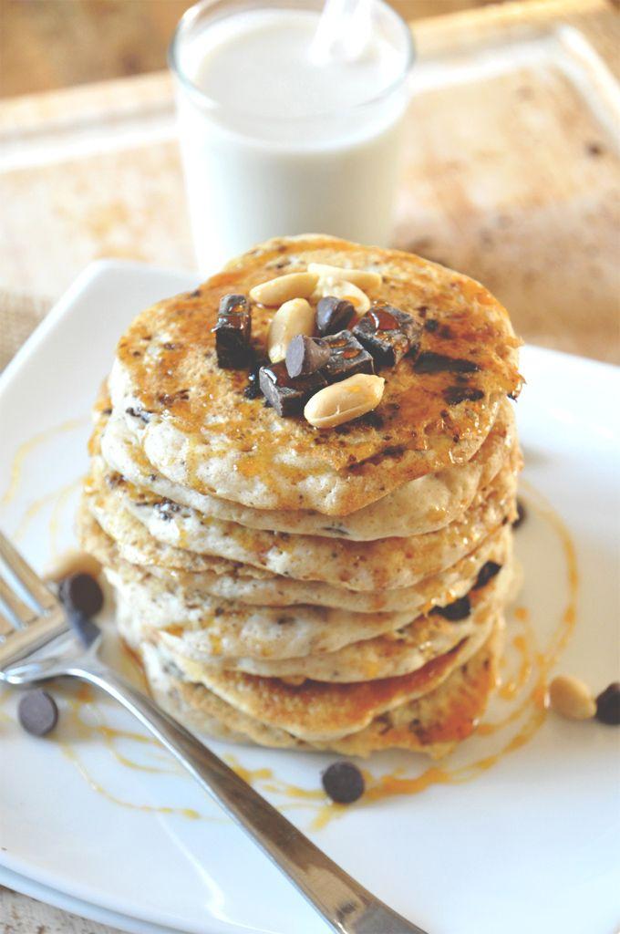 Vegan Snickers Pancakes   Minimalist Baker