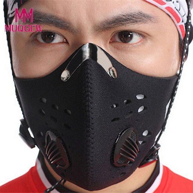 Unisex Anti Dust Filter Half Face Mask Cycling Bike Motorcycle Racing Ski Sport