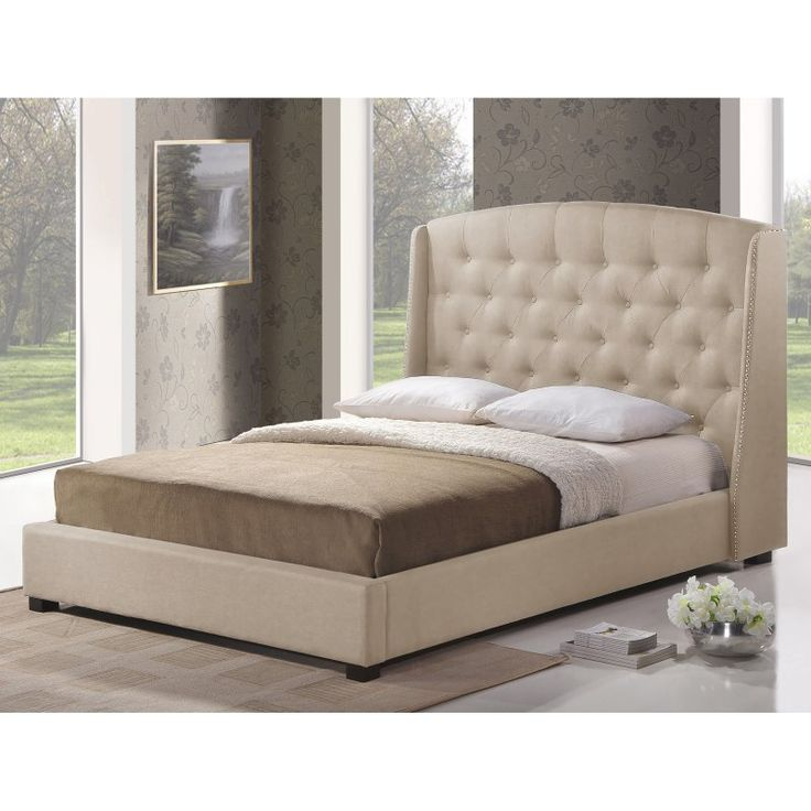 Baxton Studio Ipswich Modern Platform Bed Bbt6327 Queen Light Beige