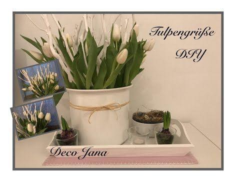 Diy Fruhlingsdeko Tulpen Im Geast Gebettet Deco Jana Youtube