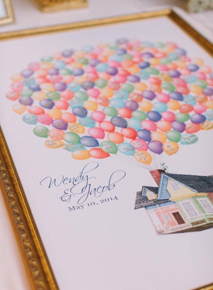 Photographer: Desi Baytan; Cute wedding guest book idea! Have them sign an umbrella to mark their spot!