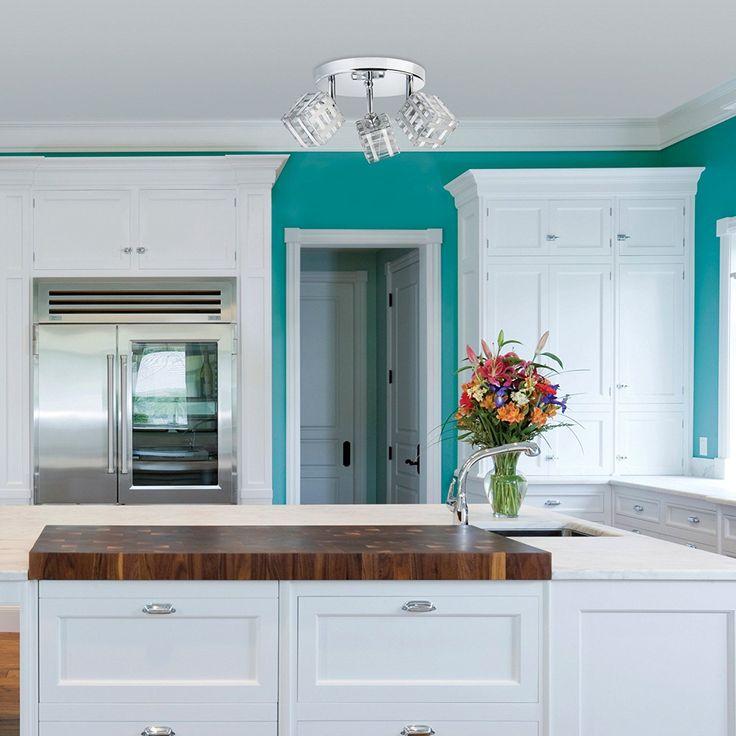 Modern Industrial Ashley Adjustable Spot Light Track Canopy Kit - Kitchen Decor