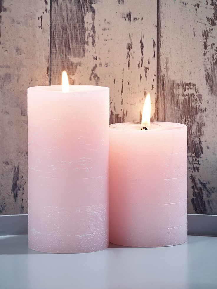 NEW Blush Pillar Candles - Decorative Home - Indoor Living