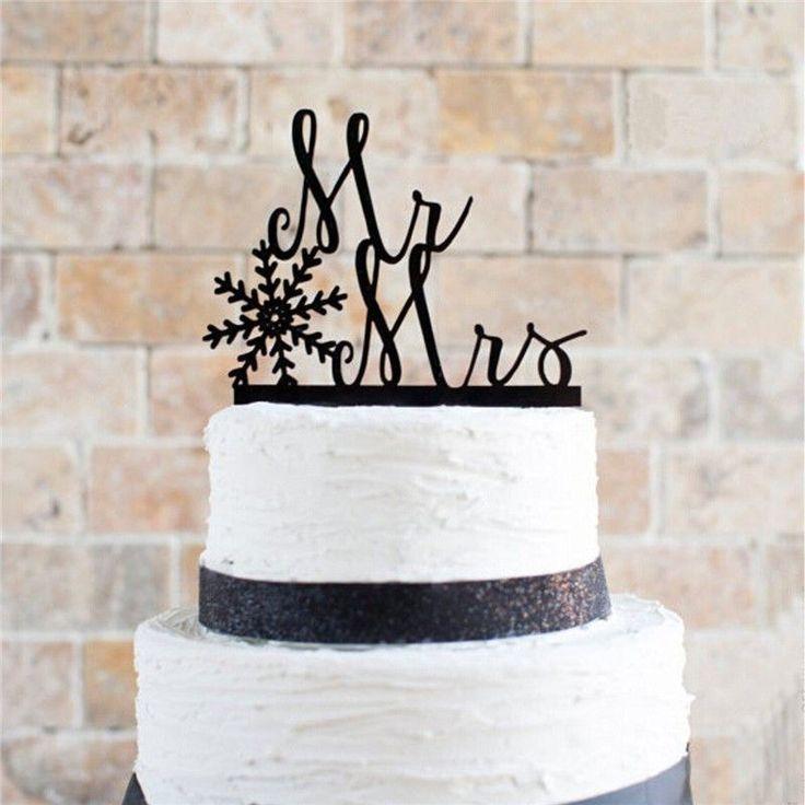 Wedding Cake Topper /Cake Decoration (Christmas Holiday Xmas Snowflake)