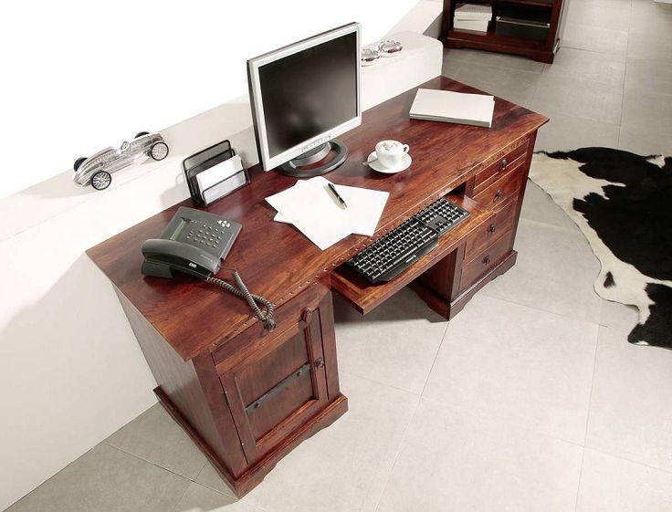 Schreibtisch holz dunkel  126 besten Schreibtische Bilder auf Pinterest | Schreibtische ...