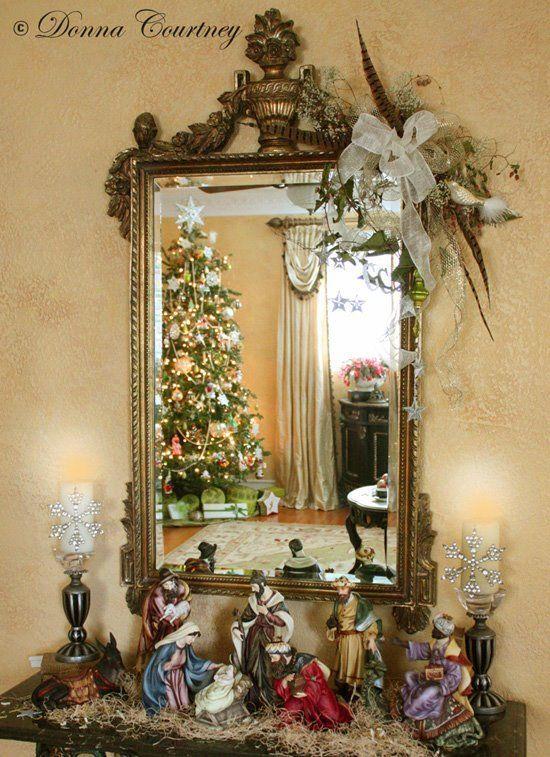 Decoración navideña con espejos http://cursodedecoraciondeinteriores.com/decoracion-navidena-espejos/ Christmas decoration with mirrors #Decoraciondeinteriores #decoraciondenavidad #Decoraciónnavideñaconespejos #Ideasparanavidad #Interiorismo #Navidad2016 #Navidad # Navidad2017
