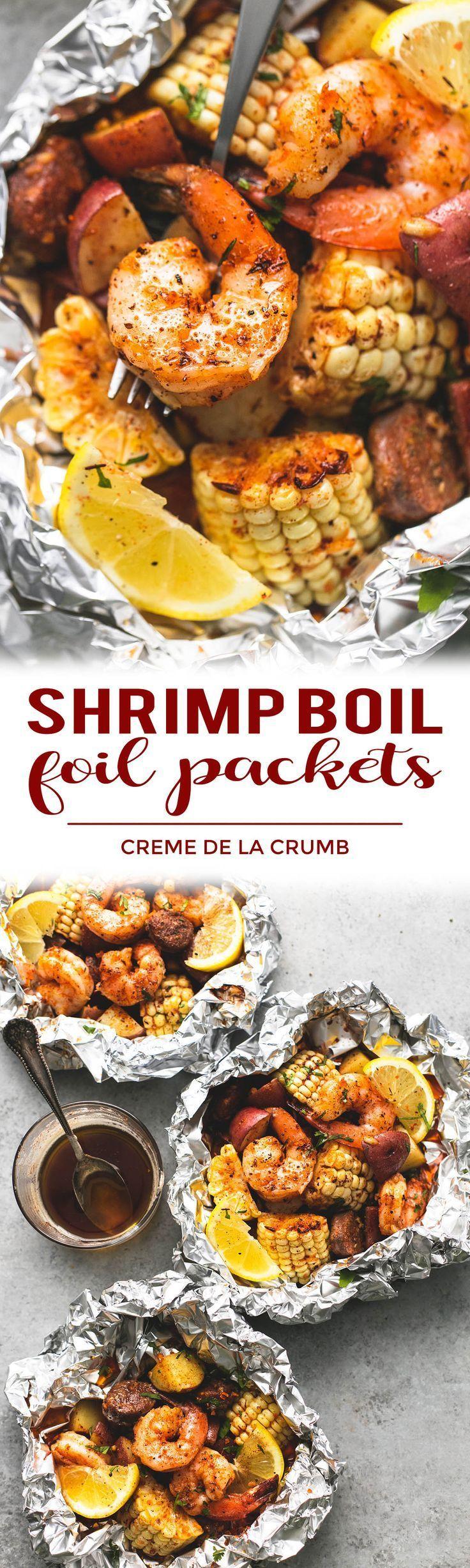 Easy, Tasty Shrimp Boil Foil Packs Baked Or Grilled With Summer Veggies,  Homemade Seasoning