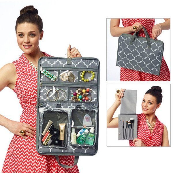 The RuMe Jet Set (Jewelry & Travel Organizer) is the most functional travel organizer you'll ever own. This handy toiletry and jewelry bag is loaded with clever functions and pockets, making packing,